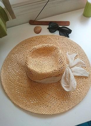 Beden camel Renk H&M Büyük Hasır Şapka