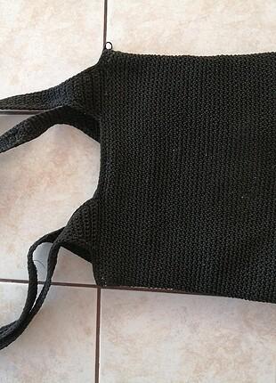 universal Beden siyah Renk Askılı siyah örgü çanta
