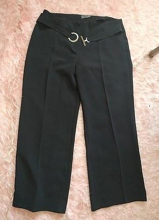 48 beden kemer tokalı siyah kumaş pantolon