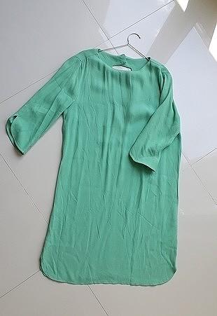 36 Beden turkuaz Renk elbise twist