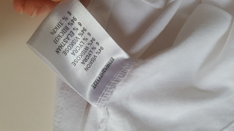 l Beden beyaz Renk askılı bluz