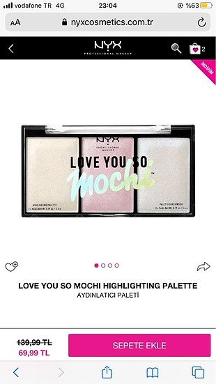Nyx higlighter palet