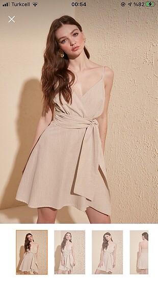 Bej rengi elbise