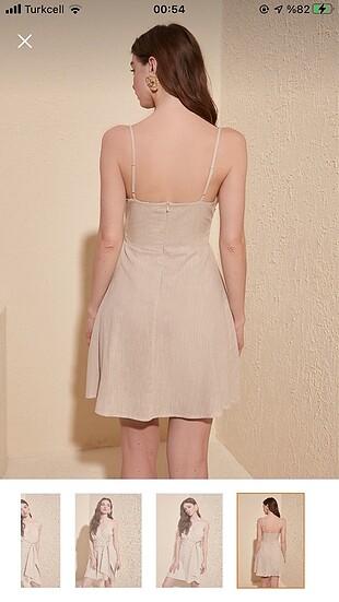 36 Beden Bej rengi elbise