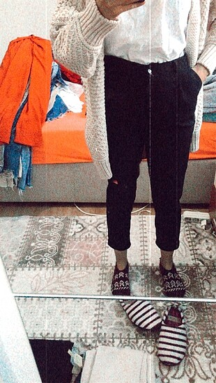 Siyah havuç pantolon