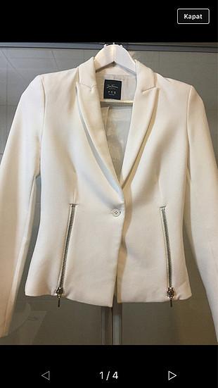 Zara beyaz ceket