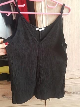 askılı siyah bluz