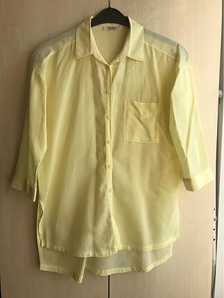 Collezione Yanları Yırtmaç Detaylı Gömlek