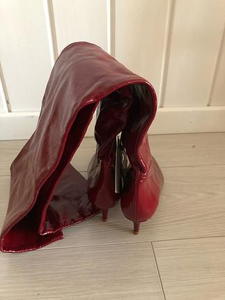 37 Beden kırmızı Renk Zara çizme