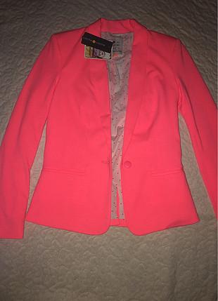 Fosforlu pembe ceket