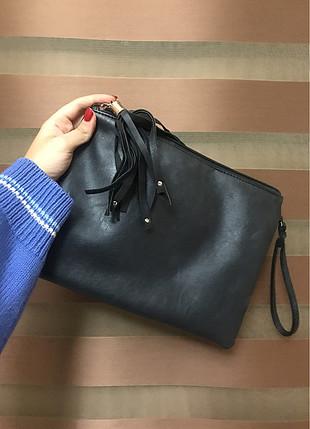 Diğer siyah yıldızlı el çantası