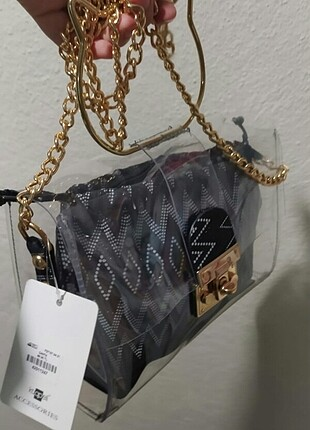 Şeffaf kedi detay çanta