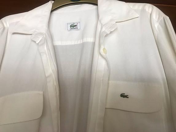 Beyaz pike gömlek