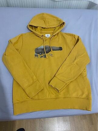 Kaft kapşonlu sweatshirt