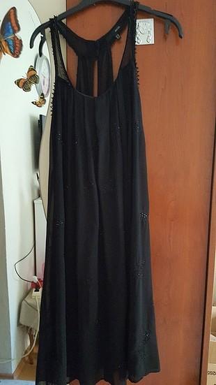 boncuk işlemeli elbise