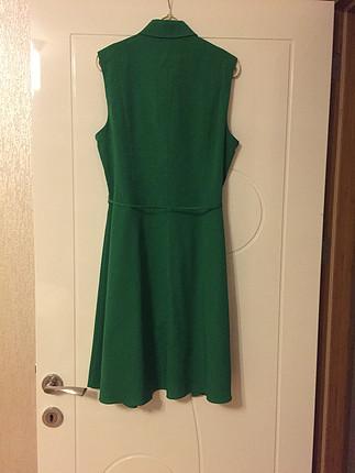 40 beden yeşil elbise