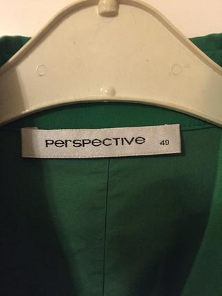 Perspective 40 beden yeşil elbise