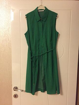 40 Beden 40 beden yeşil elbise