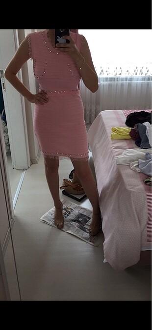 Alice taşlı elbise