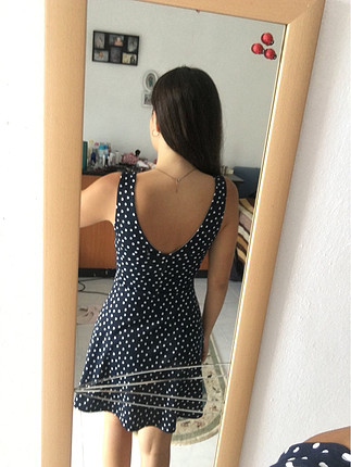 36 Beden Puantiyeli elbise