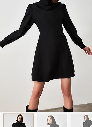42 Beden Siyah elbise