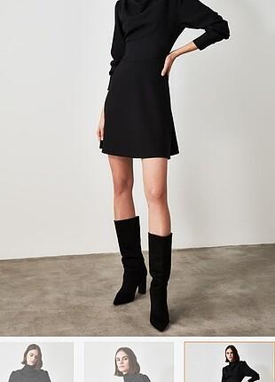 42 Beden siyah Renk Siyah elbise