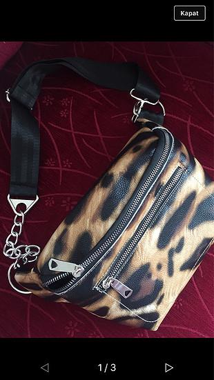 Leoparlı çapraz çanta