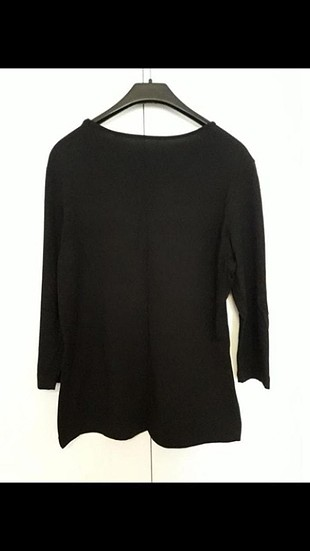 Diğer siyah şifon süslemeli bluz