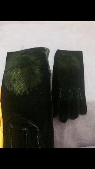 parlak kumaş eldiven