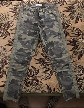 Zara kamuflaj desenli skinny jean