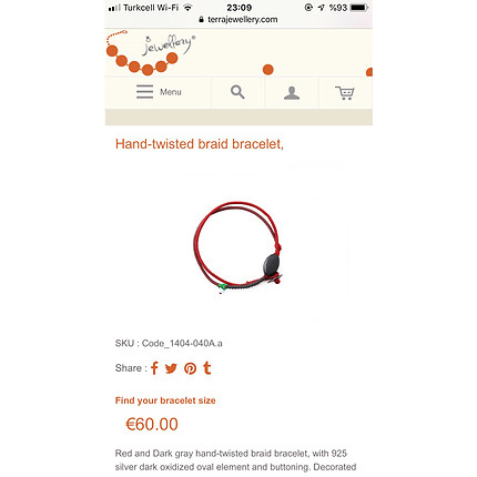 Terra Jewelry Bilezik / Hand-twisted Braid Bracelet
