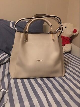 Guess Krem büyük çanta