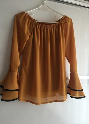 Sarı şık bluz