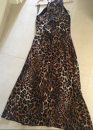 38 Beden İoekyol naturel leopar desenli elbise sonbahar kış koleksiyonu ü