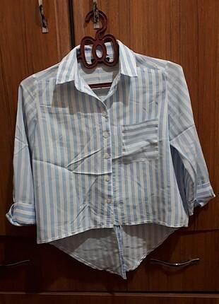 Zara Çizgili şık gömlek