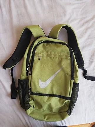 fıstık yeşili fermuarlı sırt çantası büyük