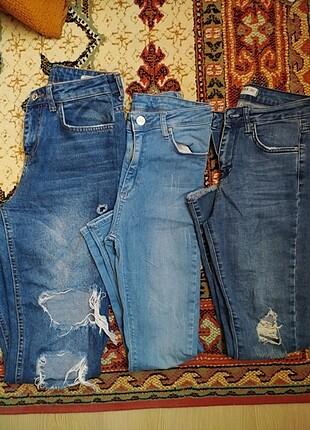 3 tane kot pantolon
