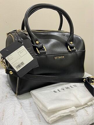 Beymen siyah çapraz askılı tote çanta