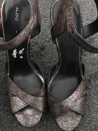 40 Beden altın Renk Aldo Topuklu Ayakkabı