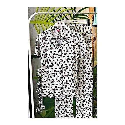 XL beden düğmeli pijama