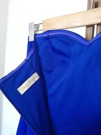 s Beden mavi Renk balık model elbise uzun