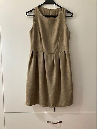 Taş rengi elbise