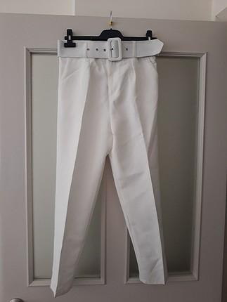 beyaz havuç pantolon