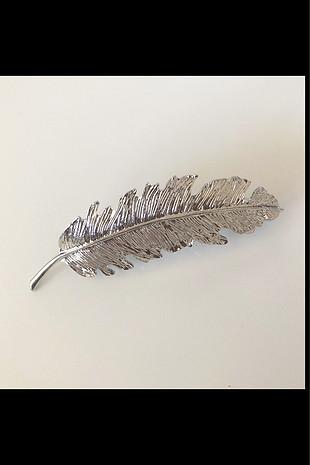 diğer Beden gümüş Renk Yaprak toka (silver)