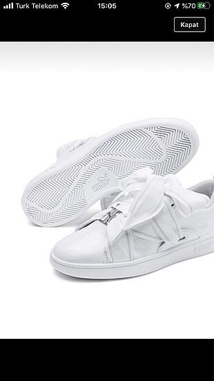 Beyaz puma ayakkabı