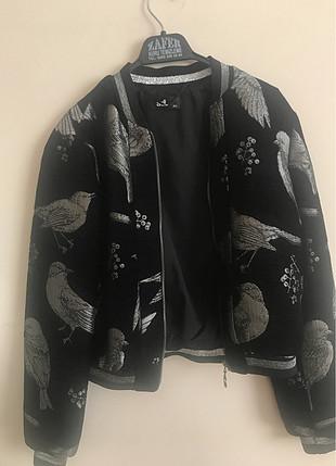 Kısa bomber ceket