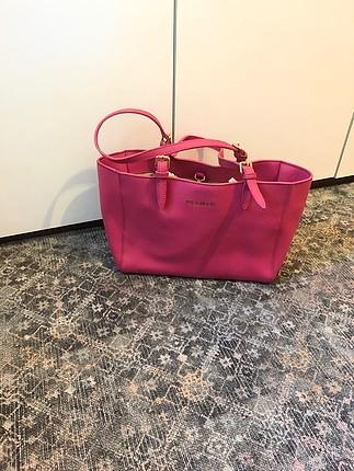 beymen tatlı pembe renk kol çantası