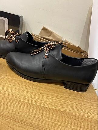 Zara oxford/loafer ayakkabı leopar