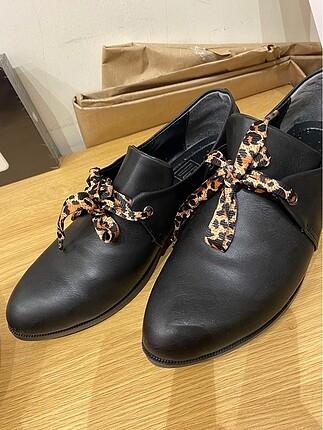 Zara Zara oxford/loafer ayakkabı leopar