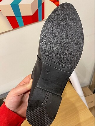 39 Beden siyah Renk Zara oxford/loafer ayakkabı leopar